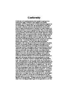 social conformity essays