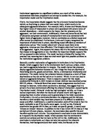 essay institutional aggression