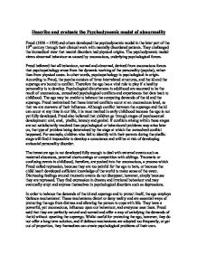 Psychodynamic approach to abnormality essay