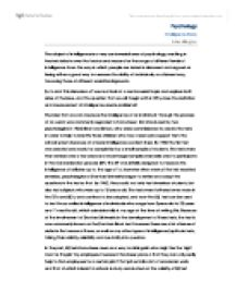 intelligence essay a level psychology marked by teachers com page 1 zoom in