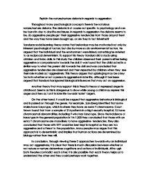 aggression nature or nurture psychology essay Aggression, social psychology of wayne a warburton, macquarie university, nsw, australia craig a anderson, iowa state university, ames, ia, usa.