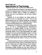 theoretical perspectives in psychology essay