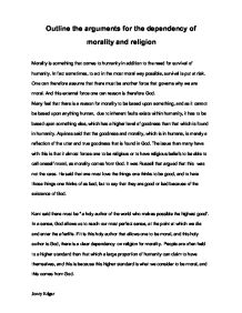christian morality a level religious studies philosophy  outline the arguments for the dependency of morality and