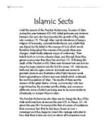 Islamic sects essay