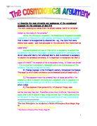 Cosmological argument essay