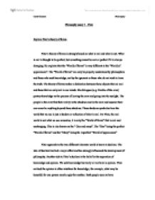 Platonic concept of forms essay