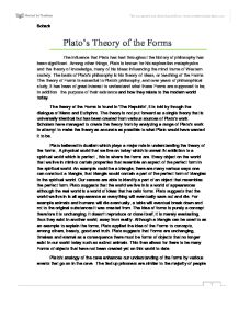 Plato theory forms essay
