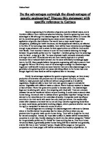 gattaca essaysdo the advantages outweigh the disadvantages of genetic     page  zoom in  gattaca essay paper