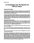 an investigation into the activity of a amylase Enzyme activity depends upon several factors including temperature and ph in thus investigation i will look at the effect of temperature on the enzyme amylase, which is found in saliva and is used to break down starch into maltose as part of digestion.