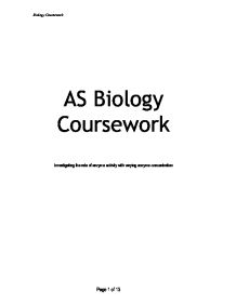 Science cousework-Biology?