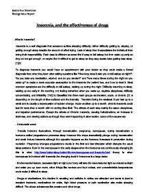 insomnia solutions essay