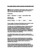 determination of calcium carbonate in eggshells lab report