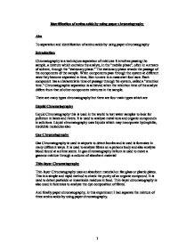 separation of amino acids by paper chromatography essay Qualitative and quantitative analyses by paper or thin layer chromatography,  separation of amino acids with  amino acid analysis using ion exchange resins 7.