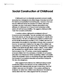 crime social construction or reality a level sociology  social construction of childhood