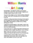 William morris essay example