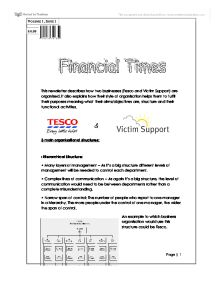 business studies activity 3 tesco Credit risk infrastructure analyst at tesco bank location edinburgh, united kingdom industry  gregor macmillan's activity  business studies with finance business studies with finance.