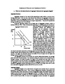 a study on the economy at an aggregate level A-level (as and a2) economics revision looking at aggregate demand, aggregate demand curve and shifts in the aggregate demand curve.