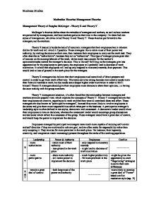 Douglas mcgregor essay