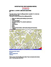 tesco aims and objectives essay