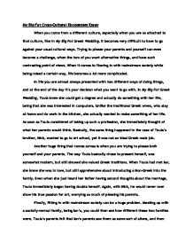 big fat greek wedding essay gcse classics marked by teachers com page 1 zoom in