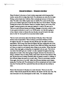 blood brothers essays gcse