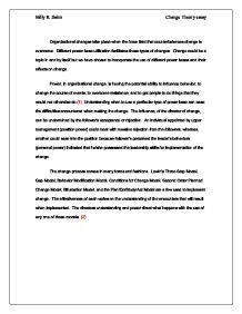 Changes in the field of education essay