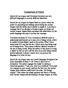 poems from different cultures comparison essay