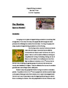 fox hunting gcse english marked by teachers com original writing coursework fox hunting