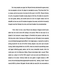 Wayne gretzky essay