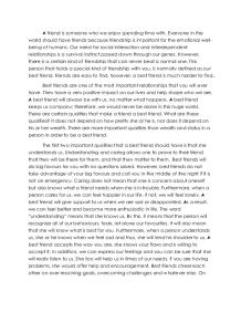 English Essay Papers  Businessman Essay also Diwali Essay In English Qualities Of A Best Friend  Gcse English  Marked By Teacherscom Essay Proposal Outline