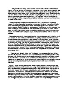 response essay on gandhiji gcse english marked by teachers com page 1 zoom in