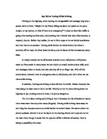 Science Essay  Essay Of Newspaper also English Essay Question Examples Essay On Texting While Driving Essay Health