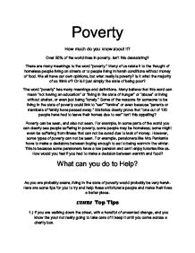 child poverty thesis statement