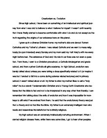 Writing For Websites Creationism Vs Evolution My Reading And Views  Gcse English  Marked By  Teacherscom Essays On The Yellow Wallpaper also Essay On Healthy Foods Creationism Vs Evolution My Reading And Views  Gcse English  Narrative Essay Thesis