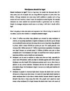 Why Should Marijuana Be Legal Essay