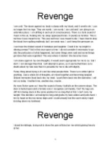 revenge argumentative essay Argumentative essays are great motivators for students because they get them thinking about controversial themes with 'hamlet', you can give your students some very interesting themes to discuss we provide you with a few themes in this lesson.