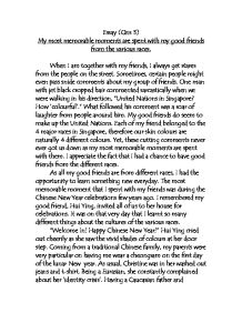 Paragraph Essay About Friendship