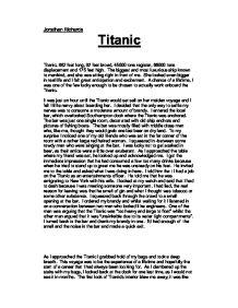 titanic - the movie essay View essay - titanic film analysis from film 131 at portland state university  titanic film analysis titanic is a romantic story containing factual and historical.