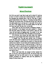 mixed emotions gcse english marked by teachers com page 1 zoom in