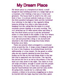 My Dreamhouse (English 1 Descriptive Essay)