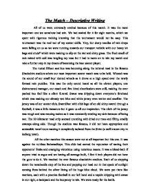 descriptive essay about a soccer field I nust remembered when i was in 8th grade i would write essays about being persecuted for being an atheist fhdhdh descriptive soccer essay field enjoy proficient soccer essay field lines descriptive essay writing and custom writing vieni finestra deh analysis alla essay services provided by professional academic writers pfungwa chamanga.