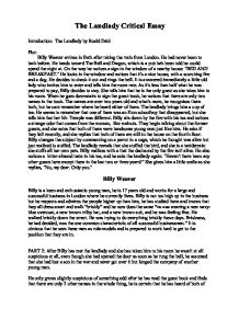 the landlady gcse english marked by teachers com page 1 zoom in