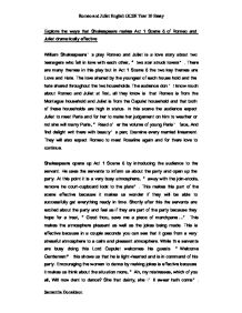 English Essays Examples  Persuasive Essay Thesis Examples also Example Of Thesis Statement For Essay Act  Scene  Romeo And Juliet Essay  Gcse English  Marked  Modest Proposal Essay Ideas