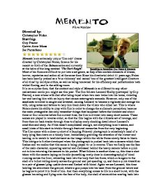 memento film review gcse english marked by teachers com page 1 zoom in