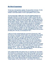 work experience essay gcse english marked by teachers com page 1 zoom in