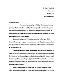 War letter writing to a father in the trenches gcse english page 1 zoom in spiritdancerdesigns Gallery