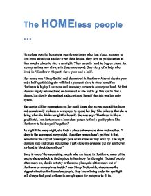 Essay on feeding the homeless