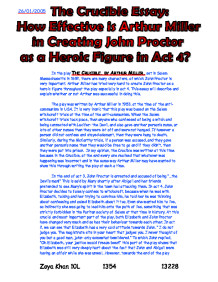 the crucible essay how effective is arthur miller in creating page 1 zoom in