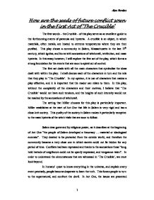 essay on the crucible hysteria