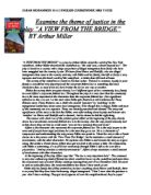 justice and the law in a view from the bridge gcse english  examine the theme of justice in the play amp quot a view from the bridge amp quot